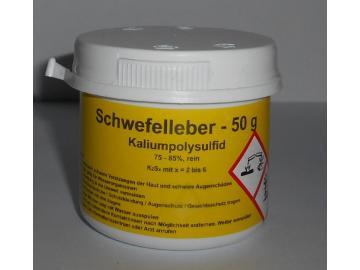 50 g Schwefelleber, Kaliumpolysulfid K2Sx (75-85% rein)