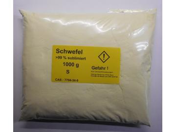 1000 g Schwefel, Säurearm, sublimiert reinst >99,9% für Elementarsammlung